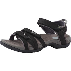 Teva Tirra Leather Sandaler Damer, black